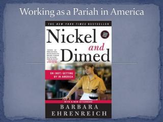 Working as a Pariah in America