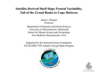 Satellite-Derived Shelf  Slope  Frontal  Variability, Tail of the Grand Banks to Cape Hatteras