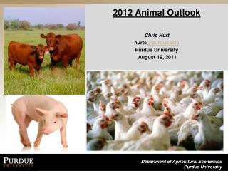 2012 Animal  Outlook Chris Hurt   hurtc @purdue.edu Purdue University  August 19, 2011