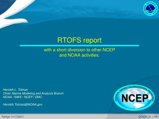 RTOFS report