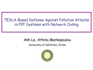 TESLA-Based Defense Against Pollution Attacks in P2P Systems with Network Coding