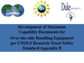 Development  of Maximum Capability Documents for