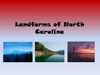 Landforms of North Carolina