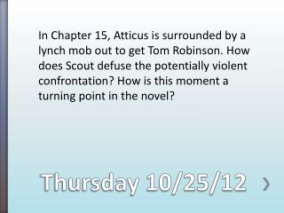 Thursday 10/25/12