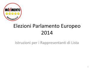 Elezioni Parlamento Europeo 2014
