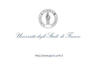 http:// www.giuris.unifi.it
