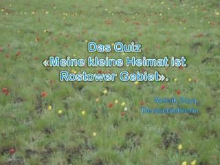 Das  Q uiz « Meine kleine Heimat ist  Rostower  Gebiet » .