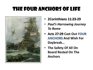 The Four Anchors Of Life