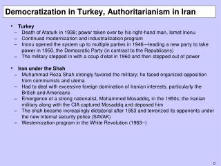 Democratization in Turkey, Authoritarianism in Iran