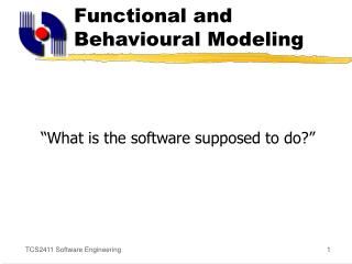 Functional and Behavioural Modeling