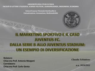 Relatore: Chiar.mo Prof. Antonio Margoni Correlatore: Chiar.mo Prof. Carlo  Genta