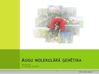 Augu molekulārā ģenētika
