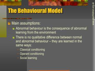 The Behavioural Model