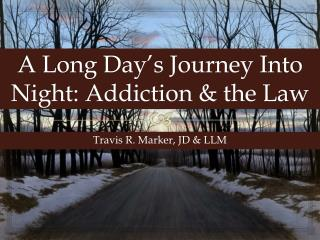 A Long Day's Journey Into Night: Addiction & the Law