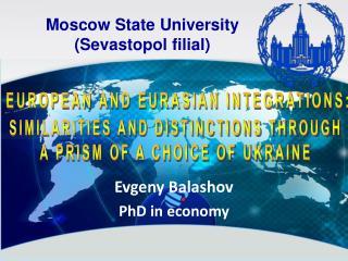 Evgeny Balashov PhD in economy