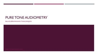 Pure tone audiometry