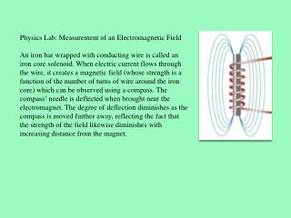 Physics Lab: Measurement of an Electromagnetic Field
