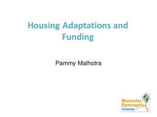 Housing Adaptations and Funding
