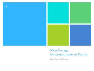 Mon Voyage  Gastronomique  en  France
