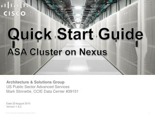 Quick Start Guide ASA Cluster on Nexus