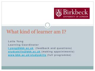 What kind of learner am I