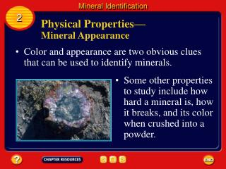 Physical Properties —  Mineral Appearance