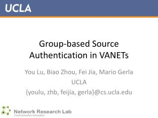 Group-based Source Authentication in VANETs