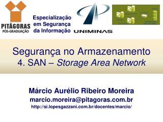 Segurança no Armazenamento 4. SAN –  Storage Area Network