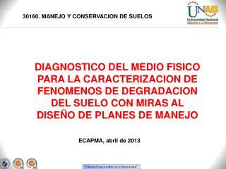 30160. MANEJO Y CONSERVACION DE SUELOS