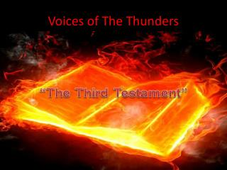 Voices of The Thunders