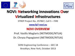 NOVI:  N etworking innovations  O ver  V irtualized  I nfrastructures