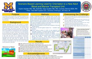 Scenario-Based Learning Used for Orientation to a New Adult Blood and Marrow Transplant Unit