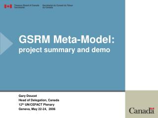 GSRM Meta-Model: project summary and demo
