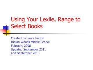 What is the Lexile Framework?