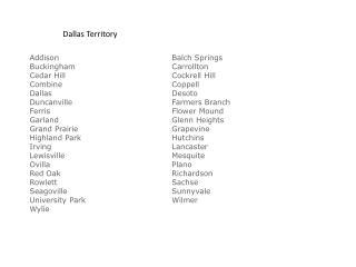Dallas Territory