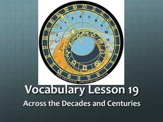 Vocabulary Lesson 19