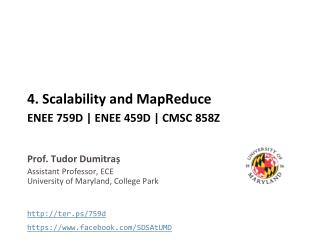 4 . Scalability and  MapReduce