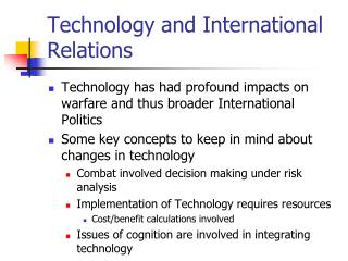 Technology and International Relations