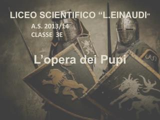 "LICEO SCIENTIFICO "" L.EINAUDI """