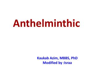 Anthelminthic