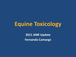 Equine Toxicology