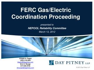FERC Gas/Electric Coordination Proceeding