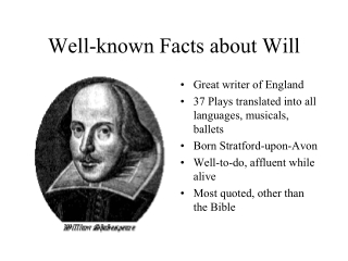 Well-known Facts about Will