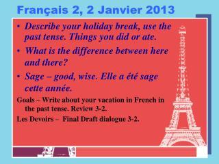 Français  2, 2  Janvier  2013