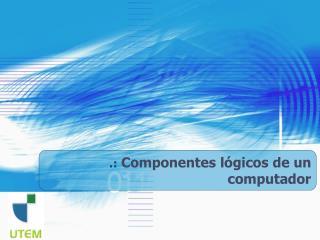 .:  Componentes lógicos de un computador