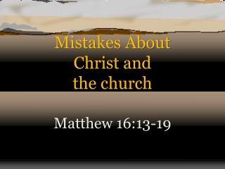 Matthew 16:13-19