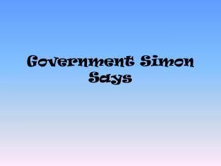 Government Simon Says