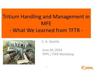 Tritium Handling and Management in MFE - What We Learned from TFTR -