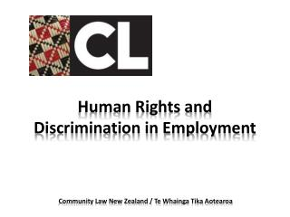 Human Rights and Discrimination in Employment