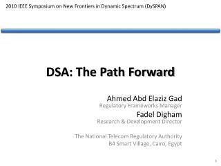 DSA: The Path Forward